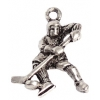 Pendant-hockey Player 21mm Lead Safe Antique Silver